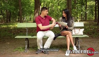 Ms. Ginger fucking a guy in the ass with strapon cock