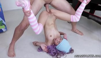 Beautiful teen Lexi Belle and Danny Mountain