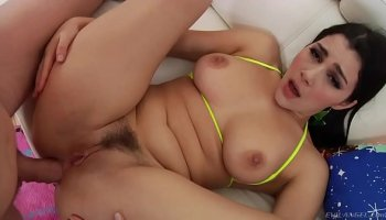 Anal debut on casting